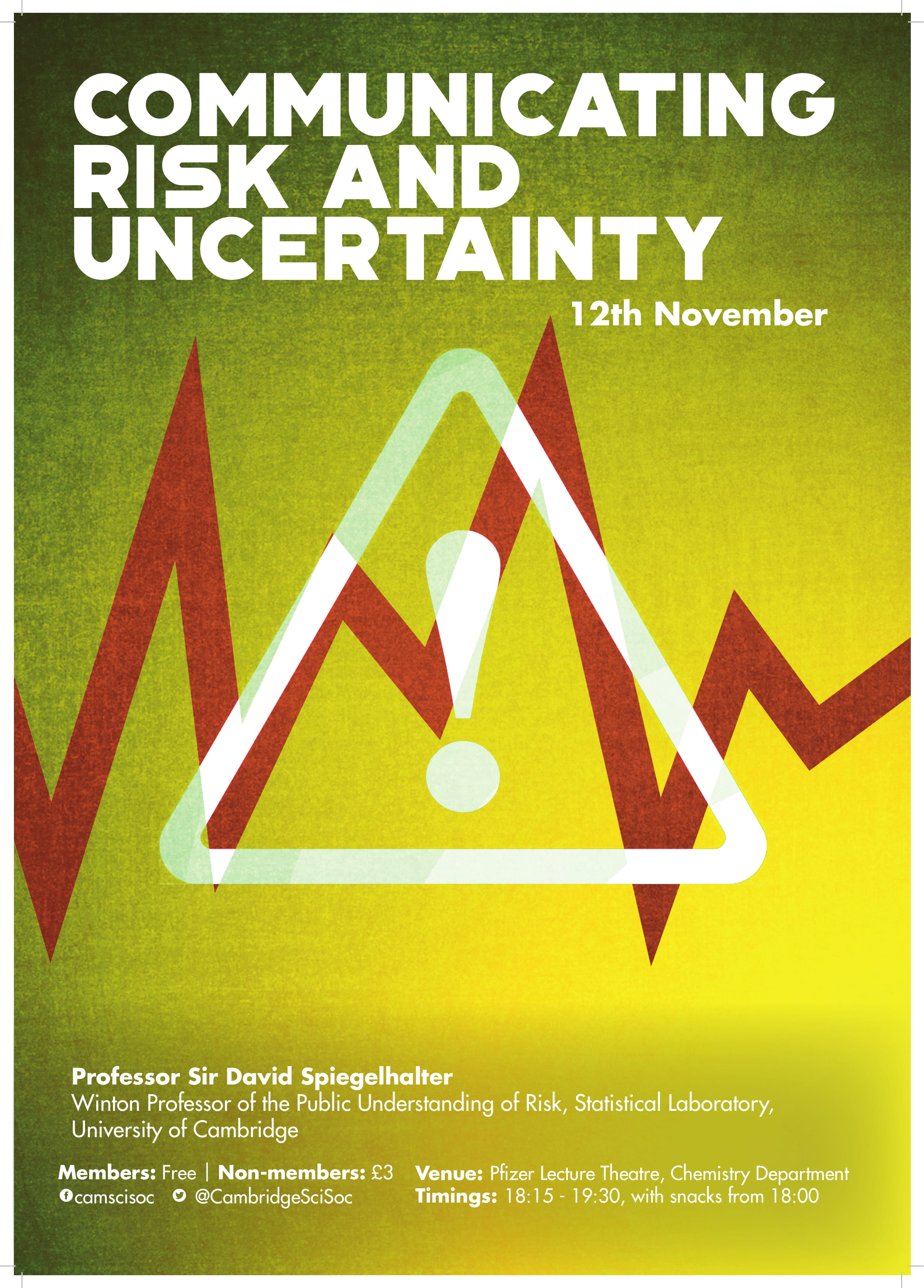 Communicating Risk + Uncertainty – Prof Sir David Spiegelhalter