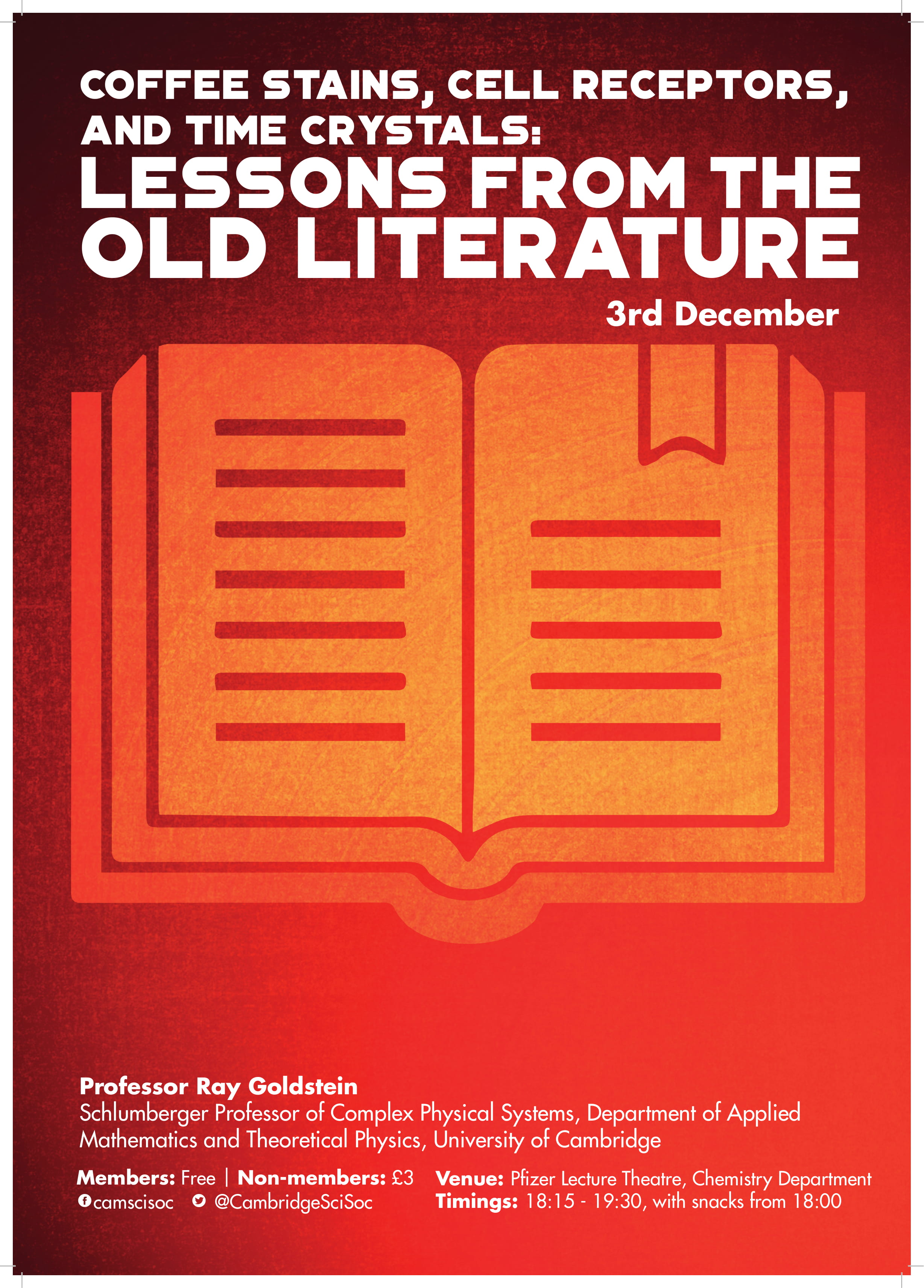 Lessons from the Old Literature – Prof Ray Goldstein